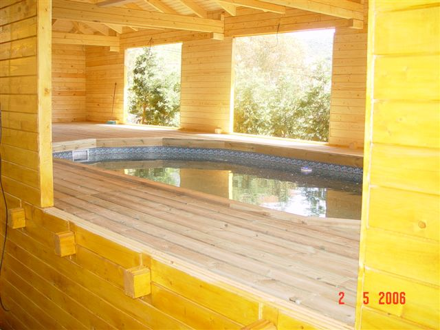 ma piscine sous notre chalet