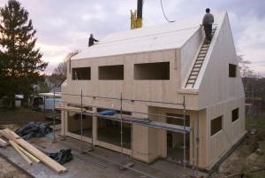 Maison bois en panneaux massif