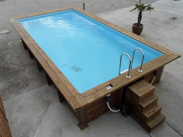 piscine hors sol avec renfort m tallique jardi brico. Black Bedroom Furniture Sets. Home Design Ideas
