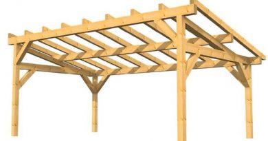 préau en bois