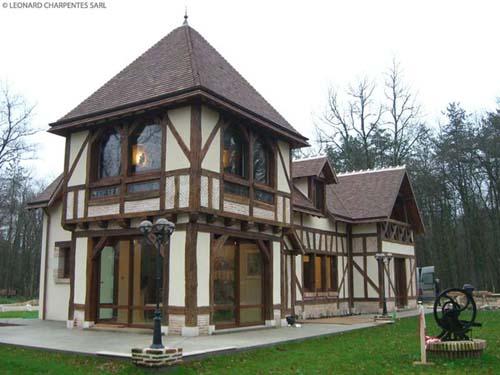 Maison en colombage bois