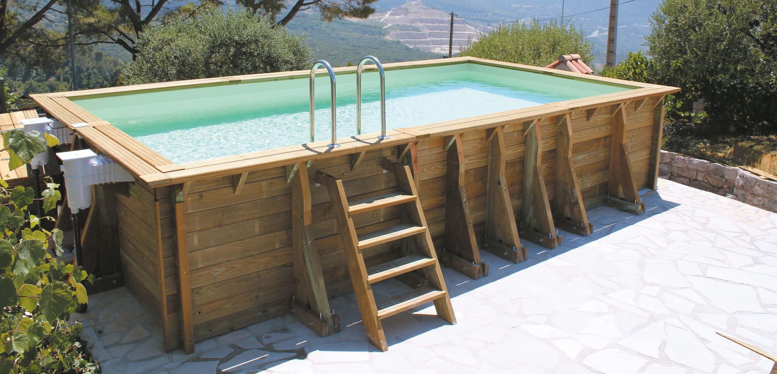 Piscine bois dream wood grand choix de taille for Piscine bois la redoute